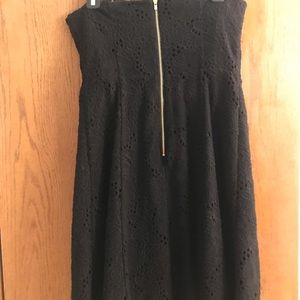 d7b84fa1753 Lilly Pulitzer size 8 black strapless dress